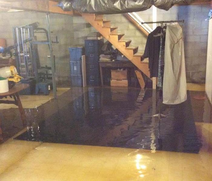 Storm Causes Flood in Basement